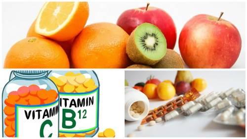 vitaminas frutas y suplementos