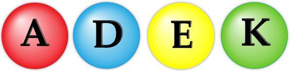 vitaminas solubles A D E K