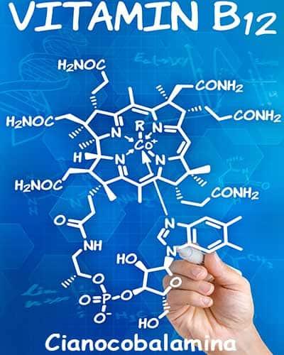 fórmula vitamina B12 o Cianocobalamina