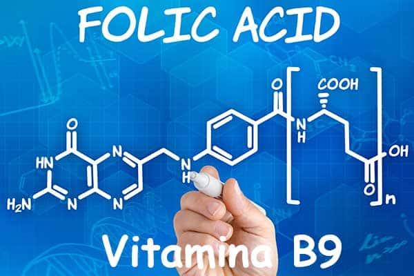 fórmula vitamina B9 o Ácido Fólico