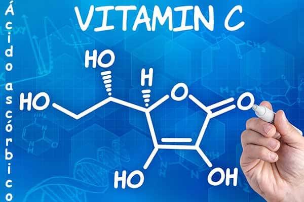 fórmula vitamina C o Ácido ascórbico